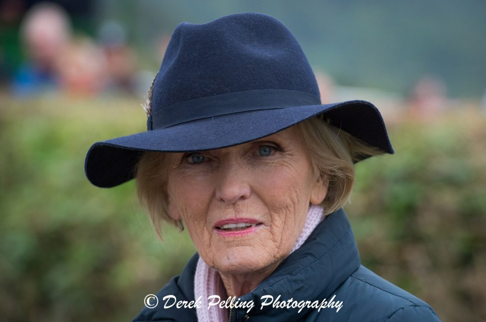 Mary Berry - pictured at the Kop Hill Climb